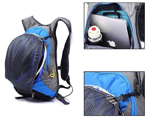 Outdoor peak Ultralight NYLON Herren Damen Hüfttasche Gürteltasche Bauchtasche Fahrrad tragbaren Taschen Triangle Tasche Brusttasche Sport Handy Rad Rucksack Blau