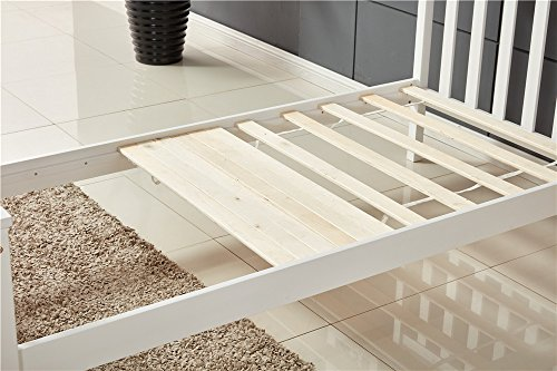 Sleep Tight Single Bed White Wooden Frame 3ft x 6ft Modern Single Solid Pine Bed