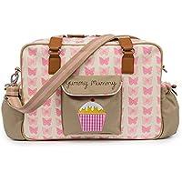 2PCS Baby Nappy Changing Mat Mummy Polka Dot Baby Changing Bag with Changing Mat