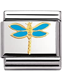 Nomination Composable Classic TIERE - LUFT Edelstahl, Email und 18K-Gold (Libelle) 030211