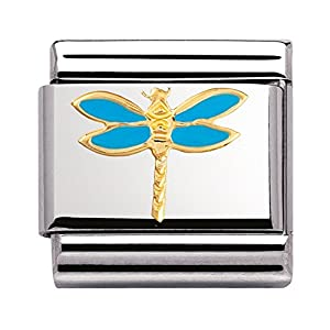 Nomination Composable Classic TIERE – LUFT Edelstahl, Email und 18K-Gold (Libelle) 030211
