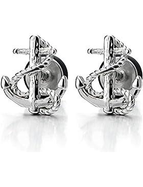Herren Damen Marine Anker-Ohrstecker Ohrringe Edelstahl Gestüt Ohrringe, Schraube Wieder, 1 Paar