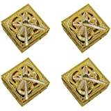 BAAL Set Of 4 Pcs Modern Dry Fruit Boxes For Office And Kitchen, Golden, 20 Grams, Pack Of 1
