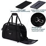 Schwarz Transporttasche Für Hunde & Katzen Komfort Airline Genehmigte ReiseTote Weich-seitig Tasche Mit Matte - 6