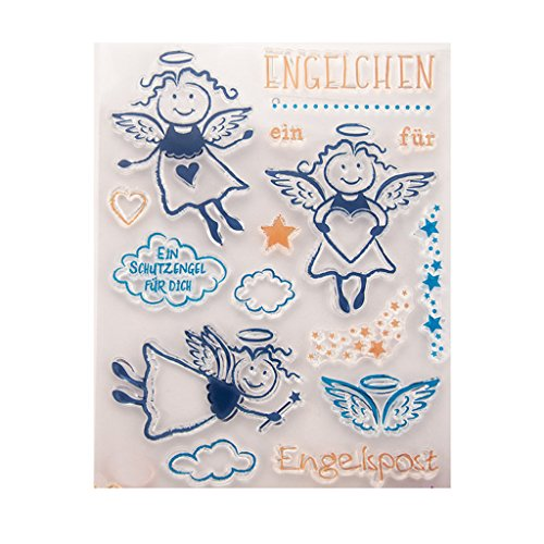 Kimyu Engel Klar-Muste Gummi Durchsichtiger Transparent Stempel DIY Collage Album Decor