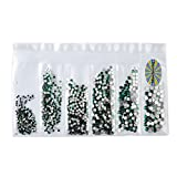 Babysbreath Strass in vetro multi-size Sacchetti separati per nail art con decorazione a forma di strass e glitter 4#