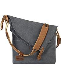 P.KU.VDSL Nordlicht Tasche, Damen Schultertasche Handtasche Canvas Messenger Bag Umhängetasche Crossbag Tasche Mädchen Schultertaschen Bucket Shopper Shoulder bag