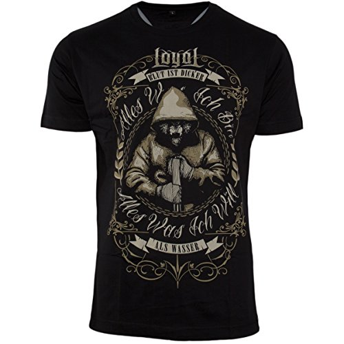 Kontra K T-shirts Loyal Rot T-shirt Hochwertige Materialien