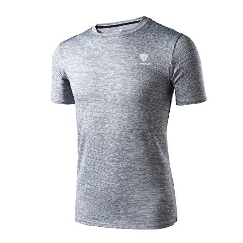 VEMOW Sommer Mann Mode Lässig Täglichen Workout Leggings Fitness Sport Gym Laufen Yoga Athletisch Shirt Top Bluse Pullover für Vatertag Geschenk(Grau, EU-50/CN-M) (Pinguin-leggings)