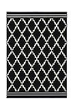 Teppich Wohnzimmer Carpet Geometrie Design Lina 200 Rug Rauten Muster Polypropylen 200x290 cm Schwarz/Teppiche günstig online kaufen
