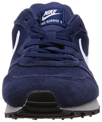Nike Md Runner 2, Baskets Basses Homme Bleu (Midnight Navy/White-Wolf Grey 410)