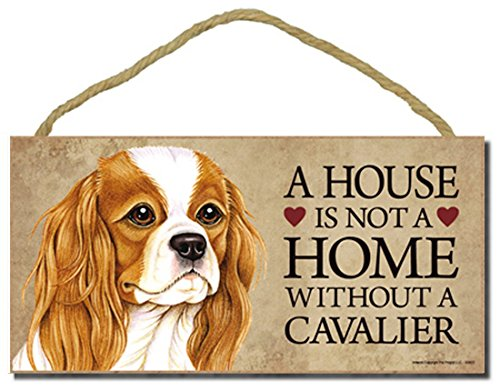 "Cavalier King Charles Spaniel Hund Schild mit Personalisierung Kit ""A House is not a Home without a Cavalier"""