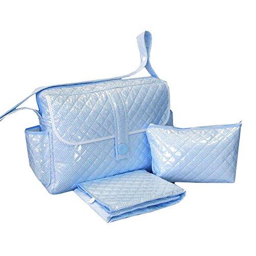 Imagen para Bolso AZUL MOTITAS tipo maleta. Incluye: Bolso + Cambiador + Bolsito neceser IMPERMEABLE. Amplia oferta de modelos en: Koketes, Mobibe, Bebelovers