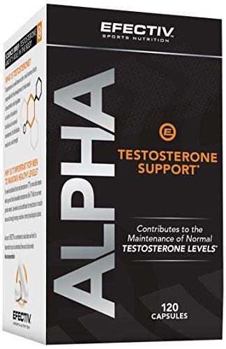 Efectiv Sports Nutrition Alpha Testosterone Support Supplement, 120