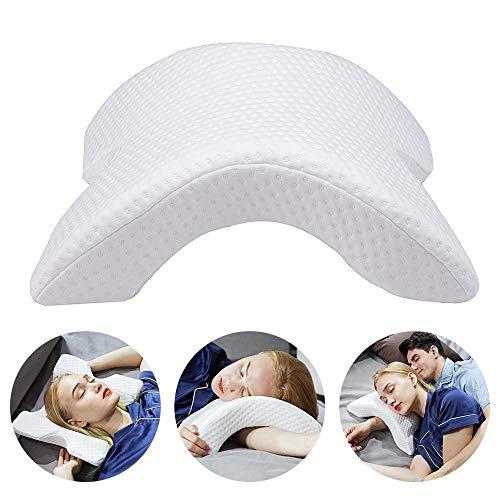 WANGXIN Arco En Forma de U Curvado Memoria Espuma Durmiendo Cuello Cervical Almohada con diseño Hueco...