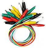 10Pcs Colorful Double Ended Alligator Crocodile Clip Test LeadS Jumper Wires -- 50CM