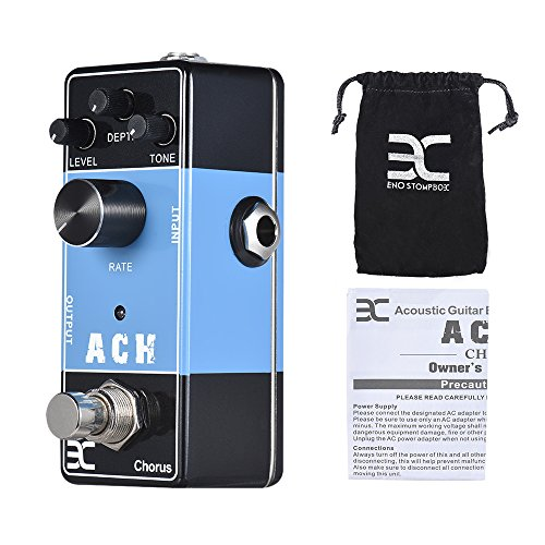 ammoon Chorus Guitar Effects Effektgerät ENO EX Akustik Gitarren Effektpedal Serie ACH Chorus Effektpedal Full Metal Shell True Bypass