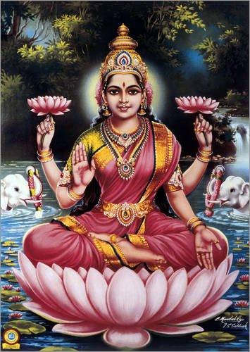 cuadro-sobre-lienzo-90-x-130-cm-goddess-lakshmi-de-everett-collection-cuadro-terminado-cuadro-sobre-