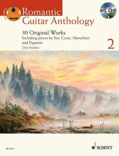 Romantic Guitar Anthology: 30 Originalwerke und Transkriptionen. Vol. 2. Gitarre. Ausgabe mit CD. (Schott Anthology Series)