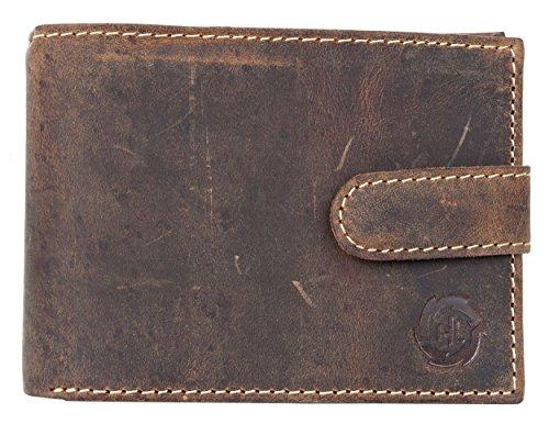 Preisvergleich Produktbild Naturstarkes Lederbrieftasche HL mit Einer Schnalle aus Echtem Leder