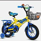 sheng Junge Kind Fahrrad gelb + blau, 12