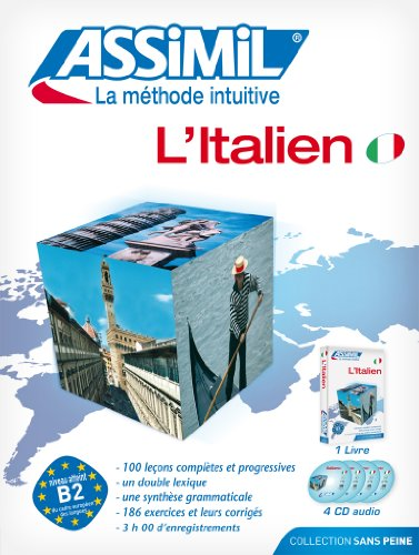 L'Italien ; Livre + CD Audio (x4)