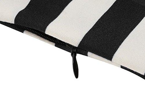 ACEVOG Damen Retro Vintage Sommerkleid Partykleid Rockabilly Gestreiftes Muster A-Linie Schwarz