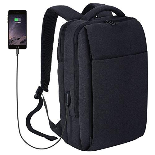 """Zaino PC Portatile, OMorc Zaino Porta PC Laptop da 15.6"""" Impermeabile Capiente Resistente con Cavo USB Molte Tasche di Stoccaggio , per Lavoro, Scuola, Viaggio, Uomo e Donna, Grigio"""