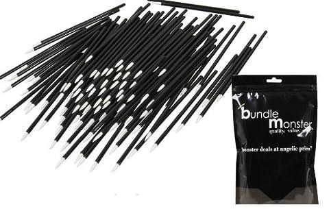 B.M.C 100 pc. Cosmétiques jetables pour les yeux Pinceaux à lèvres Applicateur de maquillage Mascara, Eyeliner liquide, rouge à lèvres, brillant à lèvres-Ensemble