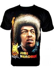 Jimi Hendrix T-Shirt Fanshirt Noir Black