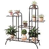 ACZZ Escaliers Floraux Multi-Couches Floral/Stand De Plantes/Décoration De Jardin Solide Étagère De Rangement pour Stent De Jardin,A,Fleur