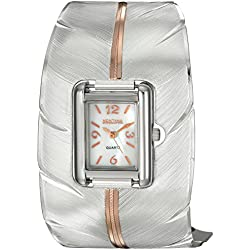 Montana Silversmiths Women's 'Time' Quartz Stainless Steel and Alloy Dress Watch, Color:Two Tone (Model: WCH2319SC)
