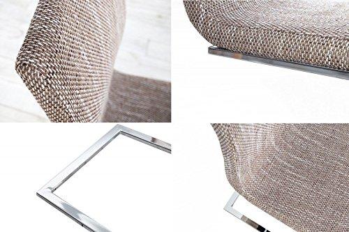 DuNord Design Stuhl Freischwinger RIVIERA coffee braun Chrom - 4