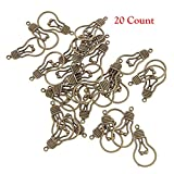 TEN-G 20 Count Antique Brozne Light Bulb Charms Pendants DIY Craft Handmade Necklace Findings Accessories
