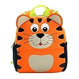 GWELL Tier Babyrucksack Wasserdicht Kindergartenrucksack Schultasche Kinder Mädchen Jungen Tiger