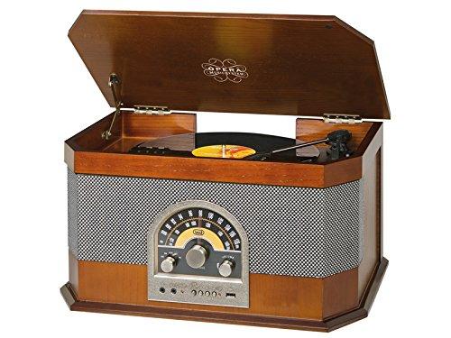 Trevi TT 1040 BT Sistema Stereo Giradischi Vintage con Mp3, USB, Aux-In,...