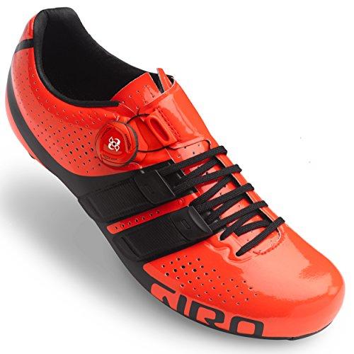 Scarpe Giro Factor Techlace - Nero, Vermillion, 45