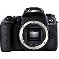 Canon EOS 77D Gehäuse SLR-Digitalkamera (24,2 MP, 7,7cm (3 Zoll) Display, APS-CCMOS Sensor, Full HD) schwarz