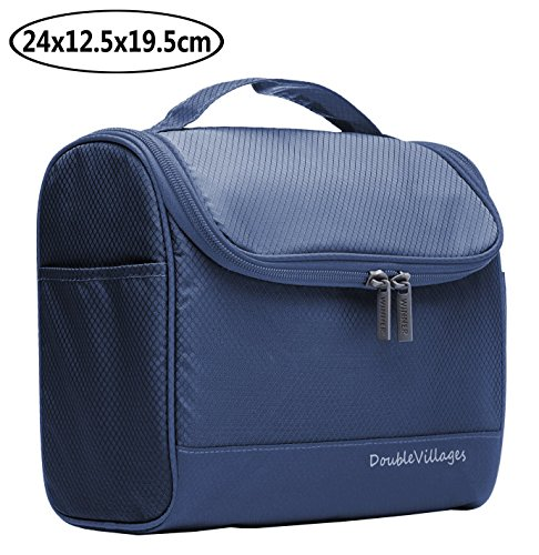 Kulturbeutel Damen Herren Kulturtasche Zum Aufhaengen Kosmetiktasche Waschtasche / Make up Tasche / Waschbeutel / Toilettenbeutel / Toiletry Bag Reisekosmetik Wash Bag für Reise, Makeup -Blau