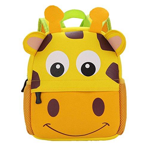 Zaino per Bambini 3D Animale Carino Scuola Borsa per Bambini Ragazzi Ragazze Bambino per Scuola Materna Viaggio Scuola Picnic 1-5 età Giraffa