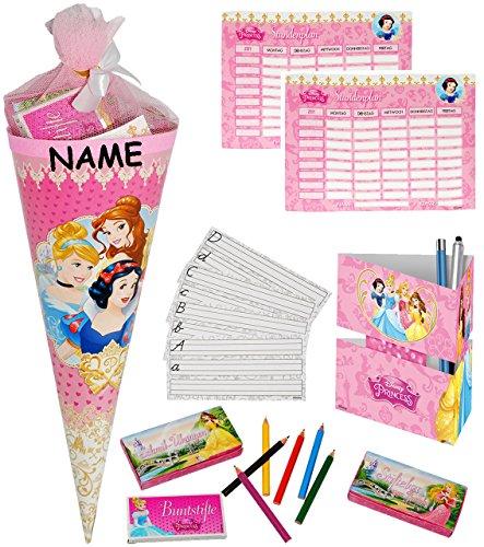 alles-meine.de GmbH 1 Set _ gefüllte Schultüte -  Disney Princess - Prinzessin  - Incl. Name - S..