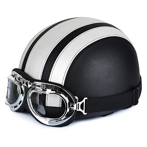 You will think of me Sie werden an mich denken Helmhelm 54-60Cm mit Brille Sun Shield Necklet Retro Style Licht und langlebig für Outdoor-Schutz Kopfschutz, 6