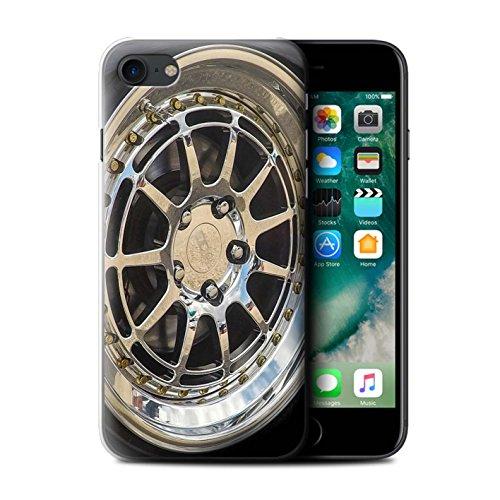 Coque de Stuff4 / Coque pour Apple iPhone 6S / Or/Chrome Design / Jantes Alliage Collection Chrome/Argent
