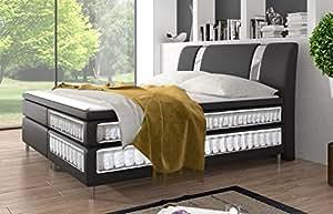echtes premium boxspringbett mit tonnentaschenfederkern. Black Bedroom Furniture Sets. Home Design Ideas