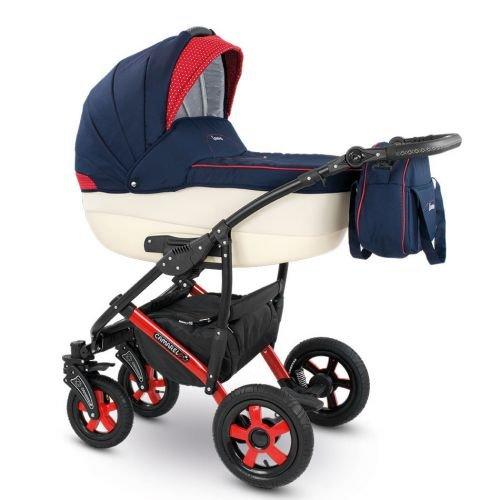 Camarelo CARERA 3in1 mit Babyschale, Kombikinderwagen - Kinderwagen - Buggy Farbe XCA-1...