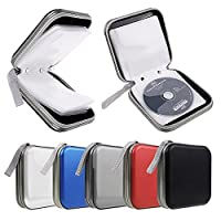 40 Pocket CD DVD Disc Storage Holder Protector Wallet Car Music Carry Case Bag - Clear