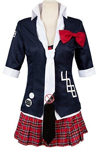 Tag Kostüm Medicale - UU-Style Damen Jacke Mantel Krawatte Top Rock unfirom Danganronpa Junko Enoshima Cosplay Kostüm, Mädchen Herren Jungen Damen Unisex-Erwachsene, Schwarz, Women:X-Large