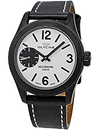 Glycine Incursore Manual Wind Black PVD Steel Mens Strap Swiss Watch 3873.91 LB9B