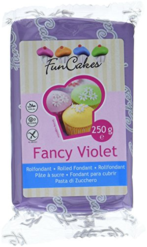 FunCakes Fondant -Fancy violett,  4er Pack (4 x 250 g)