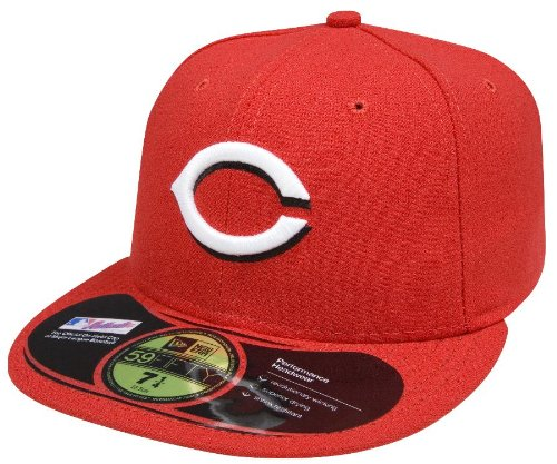 New Era MLB Home Authentic Collection On Field 59FIFTY Fitted Cap, Herren, ACPERF CINRED HM, Cincinnati Reds, 7 3/8